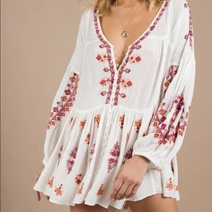 Free People Arianna Embroided Tunic